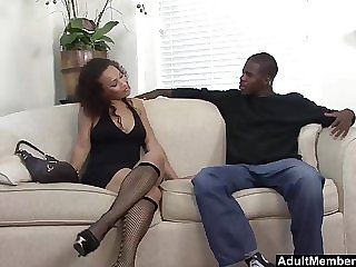 Oiled up ebony chick Cassidy Clay simply loves big black cocks