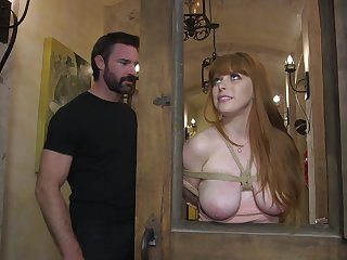 Penny Pax tied up and force fucked with a butt plug up her ass