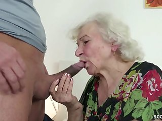 GERMAN ORDERLY CAUGHT GRANNIE JERK AND HELP WITH POKE