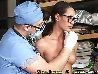 Youthful Russian beauty With Glasses Needs Doctor's Help mating tube