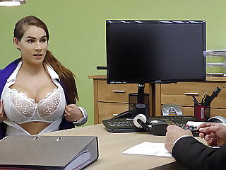 Dominate subfuscous gives a titjob to get a loan