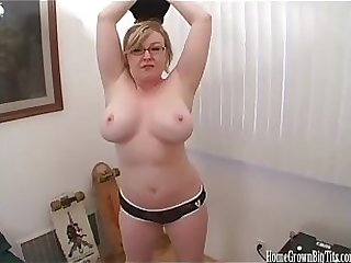 Curvy tow-headed milf boob fucked with the addition of sucking her mans blarney