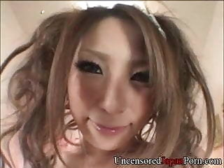 Uncensored Japanese porn close up of hairy teen pussy