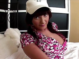 Kitty is a babe with nice tits craving to make a boner stiff
