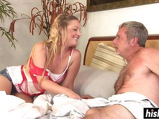 Tristyn makes an older guy happy - hardcore video