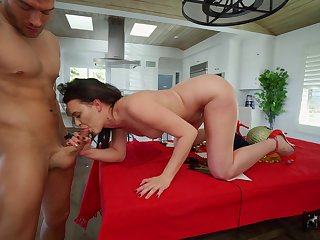 Alex More offers up her sexy ass during a POV anal fuck