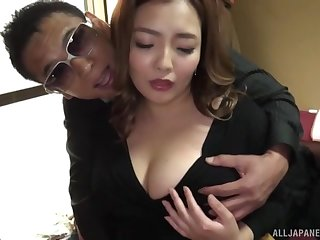 Curvy Asian wife Koino Botan undressed and fucked balls deep