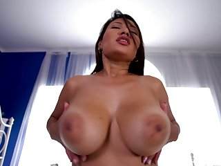 Babe rides dick better than anyone and she's sexy with those huge tits