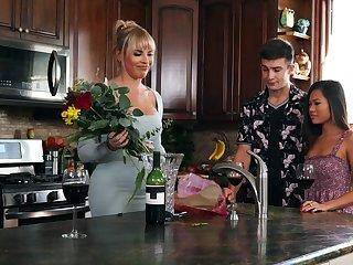 Vina Sky and boyfriend's stepmom, Dana Dearmond, work out sexual tension