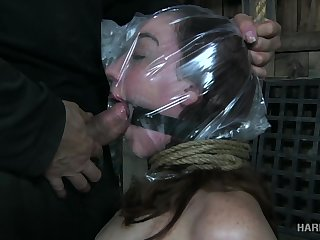 Kinky guy fucks eyes and deep throat of submissive whore Maggie Mead