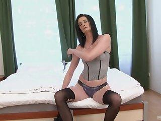 Mature slut Laura Dark enjoys having anal sex with a black man