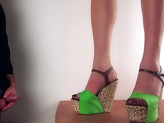 Cum on wedge shoes