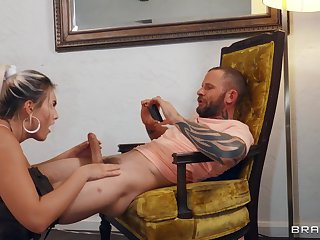 Flaming doggy style seduction after she rides a little