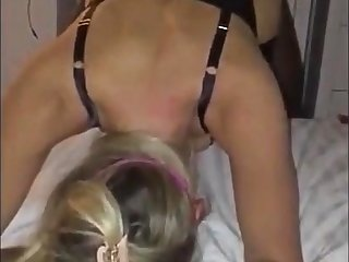 Blindfolded Cuckold Blonde GF Shared With BCC