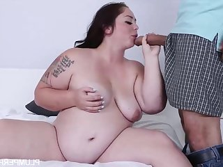 Vanessa London - Plump and Pregnant Brunette Beauty in Hardcore with Cumshot