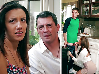 Super-Naughty Mommy deep throating enormous man sausage of daughter-in-law's BEAU