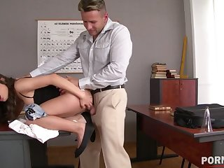 Brunette Anita Bellini stimulates her clit while being fucked harder than ever GP1066